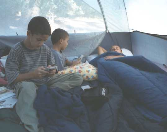 Boys in the tent; actual size = 240 pixels